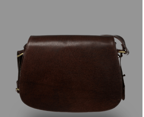 100% Leather Saddle Bag