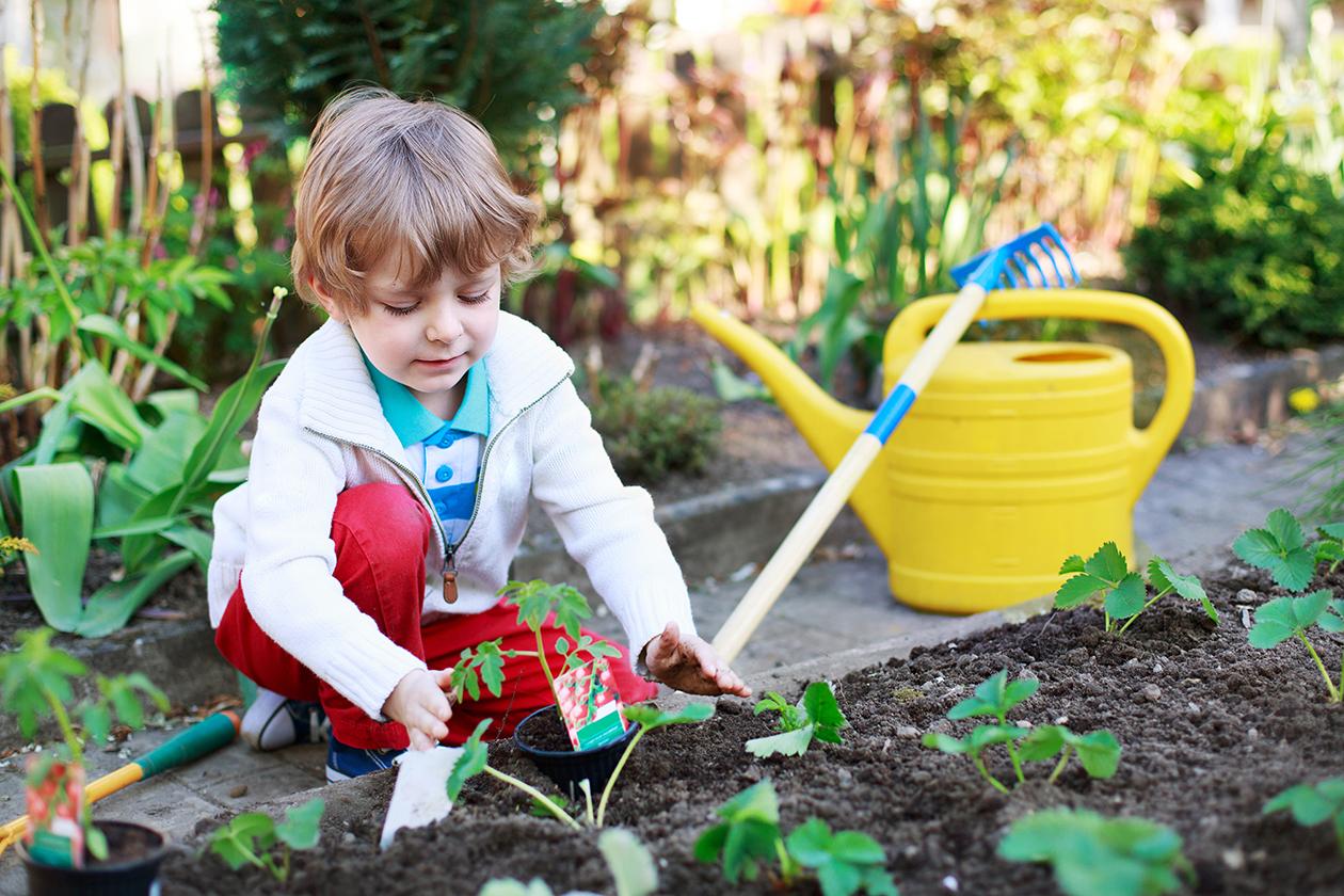 Resultado de imagen de enfants jardinage