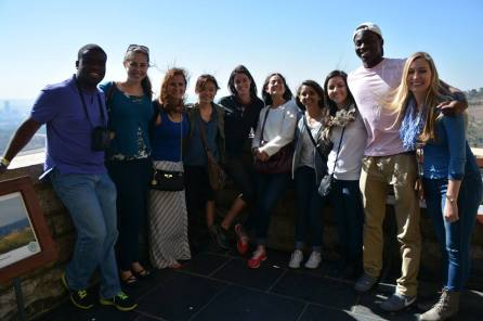 The Cape Town crew at the Vortrekker monument