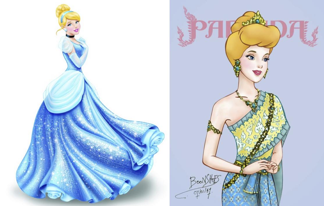 9 Disney Princesses Dressed In Traditional Thai Costumes