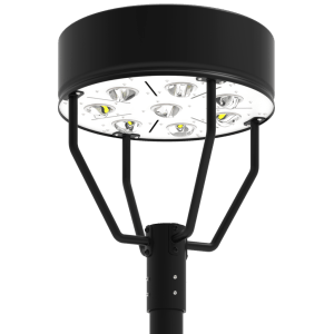 LED-AREA-1913 Series, 19 Inch Round LED Area Post Top Lighting Fixtures - 60 Watts, 80 Watts, 100 Watts, 120 Watts, 150 Watts, 180 Watts, 200 Watts, 240 Watts, 320 Watts, 2700K 3000K 4000K 5000K 5700K 6000K, 120VAC, 277VAC, 347VAC, 380VAC, 480VAC, 500VAC