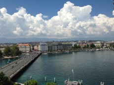 View of the lake from downtown Geneva