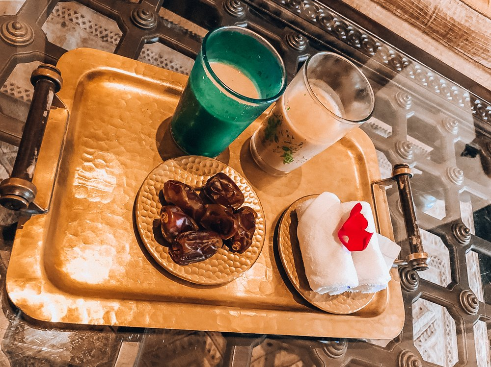 Welcome Refreshments at Qasr al Sarab