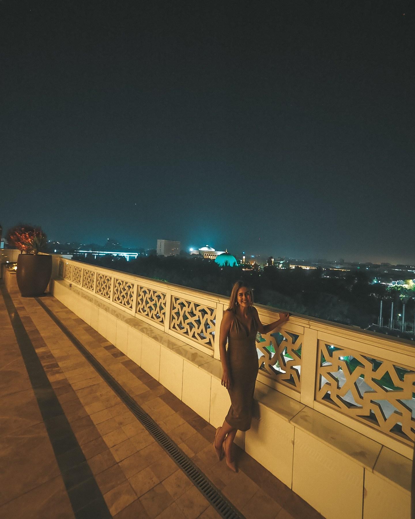 The Rooftop of the Hyatt Regency Tashkent