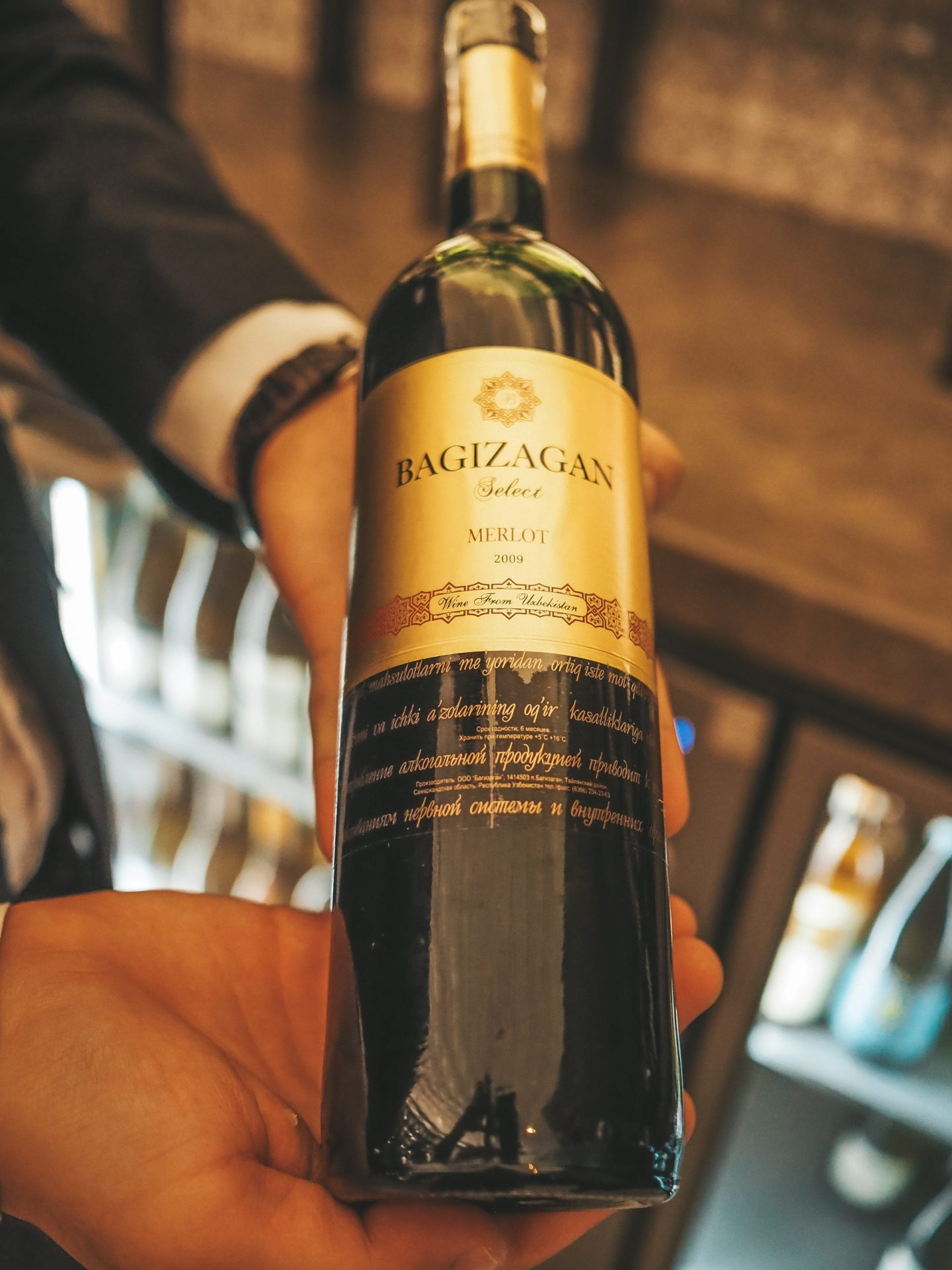 Local Uzbek Wine - Bagizagan