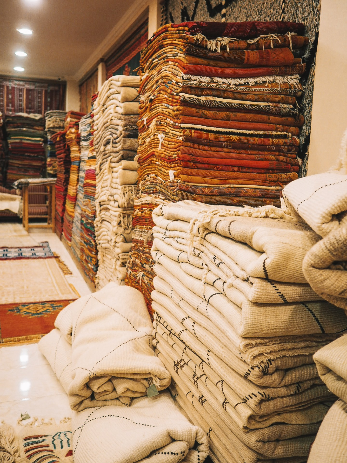 A Carpet Shop in Marrakesh