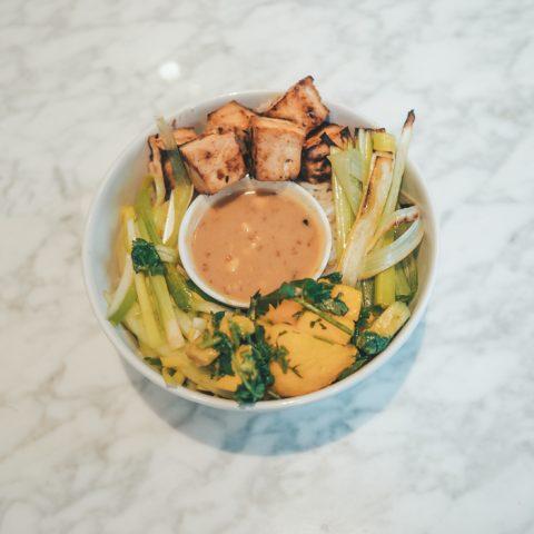 Vegan Garlic Rice Lunch Bowl