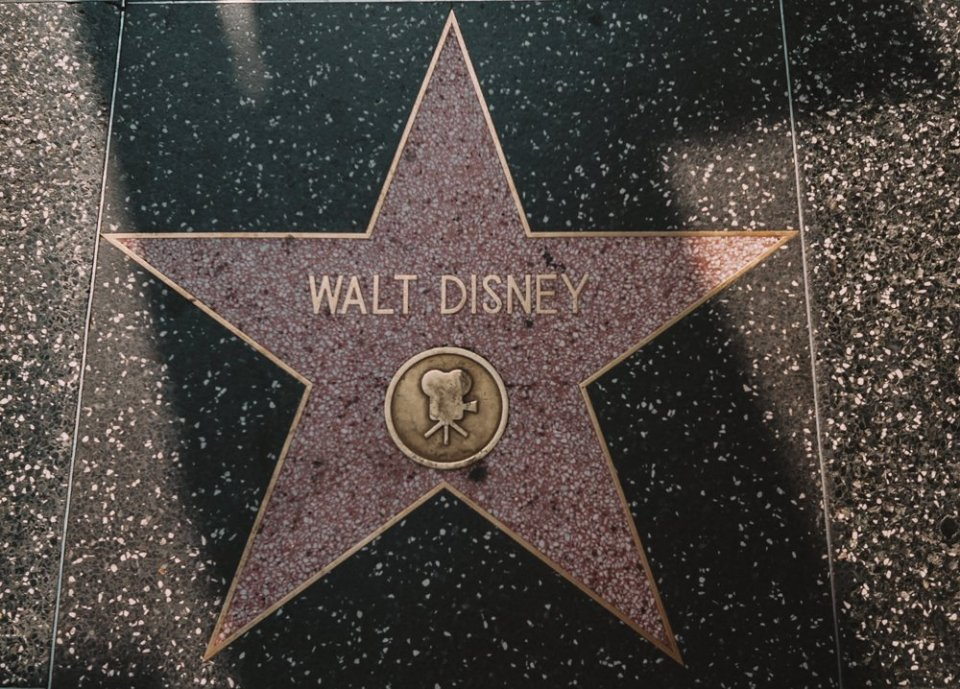 The Walt Disney Star on the Hollywood Walk of Fame