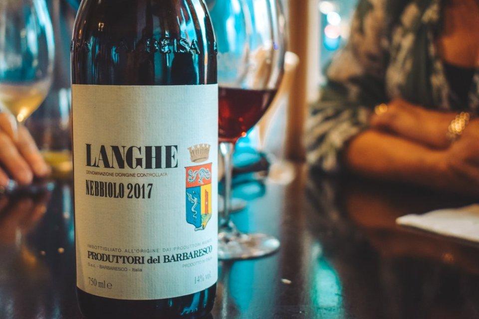 A bottle of 2017 Langhe wine - Wine Tasting Steps