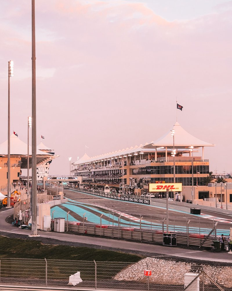 At the Abu Dhabi Grand Prix