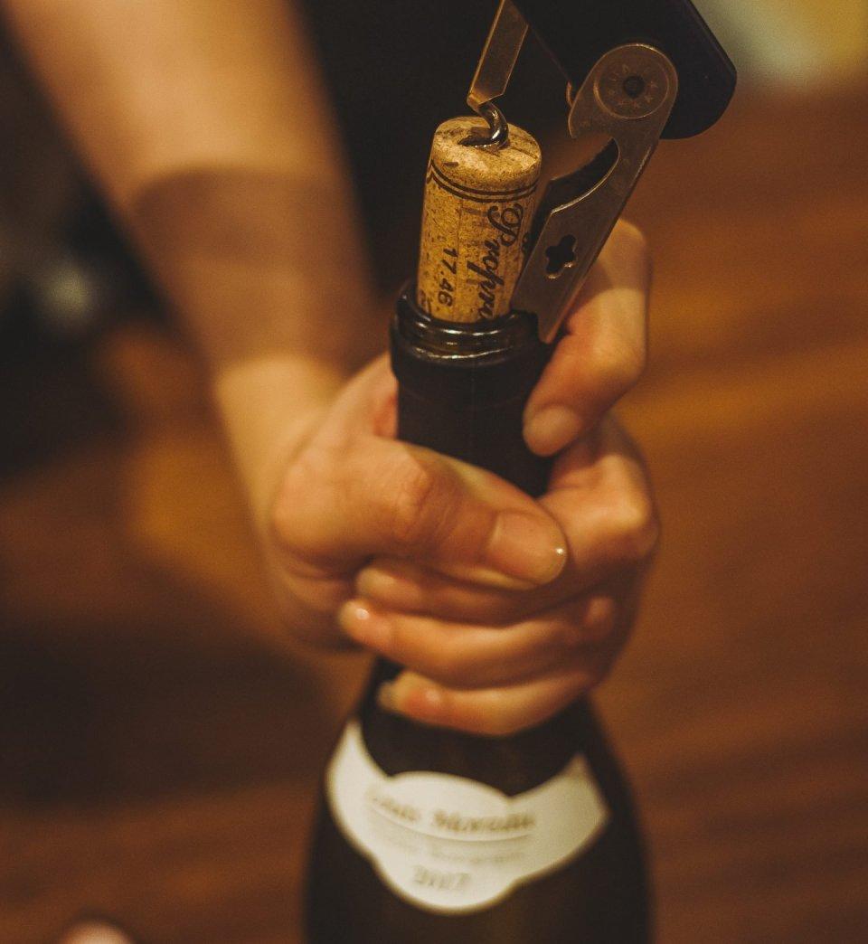 Uncorking a Bottle of Wine  - Wine Tasting Steps