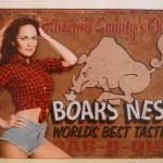 Diasy Boars Nest Tin Sign