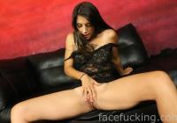 Logan Sinns spreads her pussy