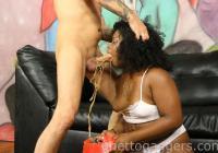 Cock hits Layla's gag reflex & she vomits