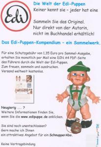 Reklameplakat for Edi-PuppenKompendium (kompendium over Edi-dukkerne!
