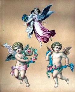 Den berømteste engel tegnet af Wilhelm von Kaulbach 1844 som gl