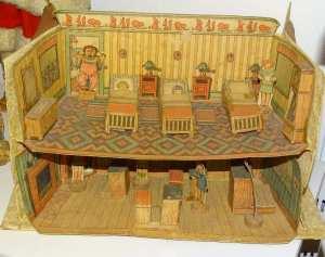 Nogle gamle pap dukkehuse var der også!