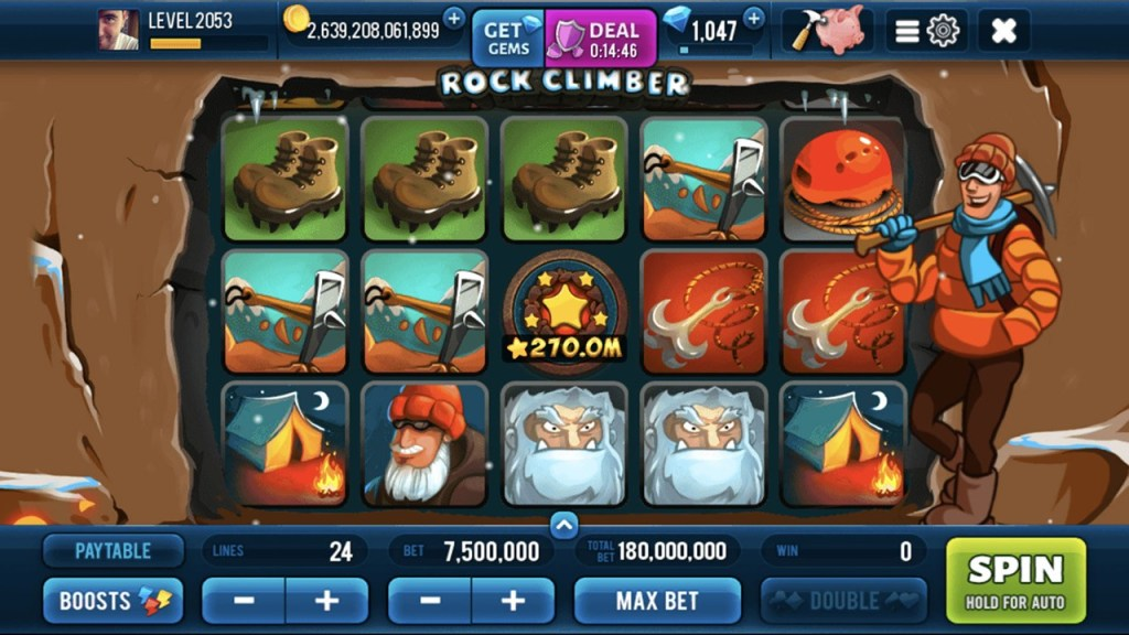 Rock Climber Slots Gameplay 1