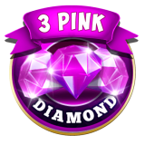 3 Pink Jackpot Diamonds Slots Icon of Game