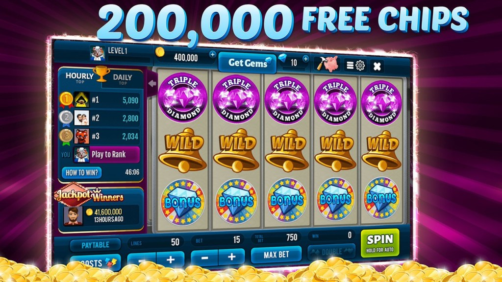 3 Pink Jackpot Diamonds Slots Screenshot 1