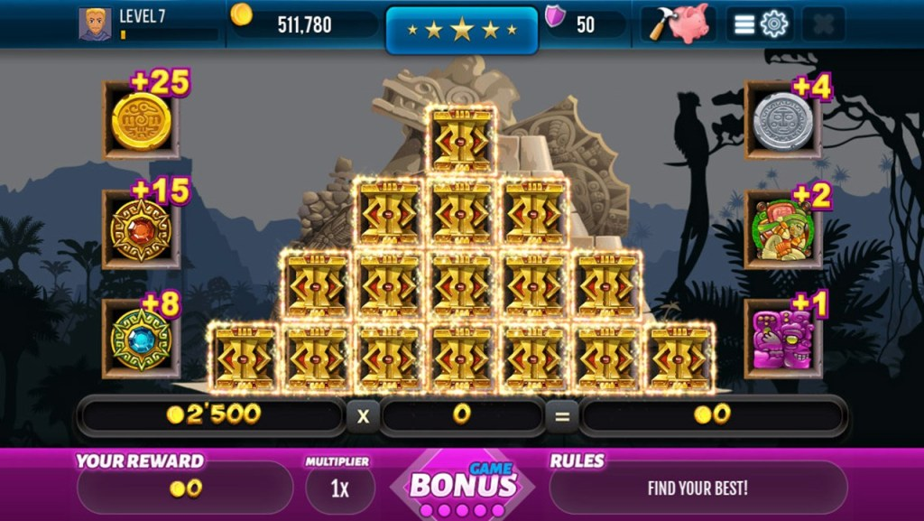 Aztec Lost Empire Slots Screen 2