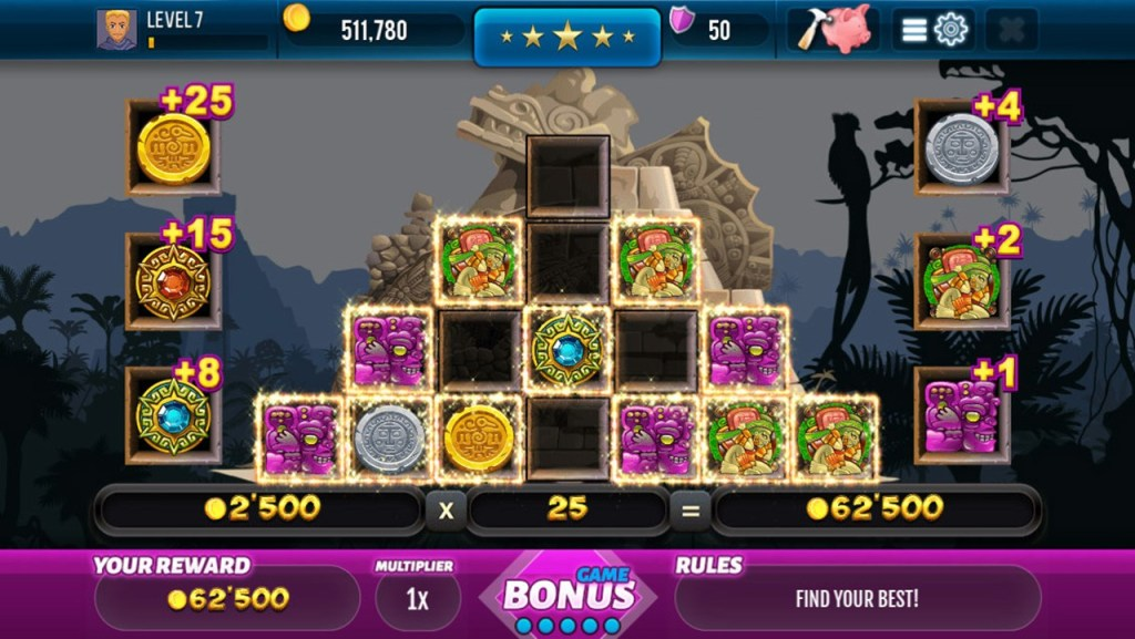 Aztec Lost Empire Slots Screen 3