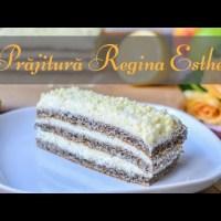 Prăjitură Regina Esther (cu mac și cremă de lămâie) - rețetă VIDEO