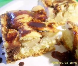 prajitura cu mere si sos de ciocolata