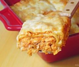 Lasagna cu carne si foi proaspete