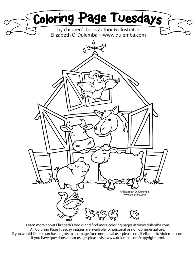 coloring pages farm barn online coloring