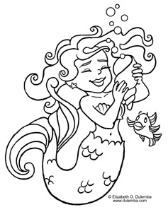dulemba coloring page tuesday mermaid