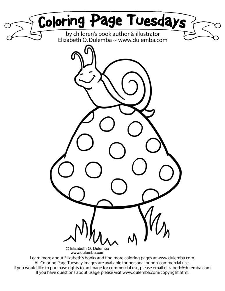 dulemba coloring page tuesday snail