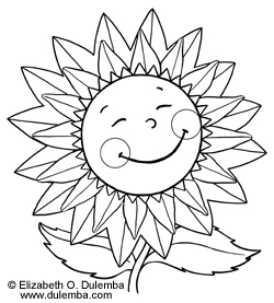 dulemba coloring page tuesday sunflower