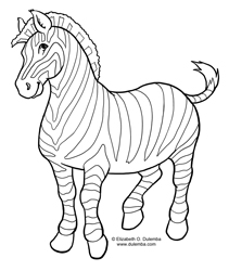 dulemba coloring page tuesday zebra