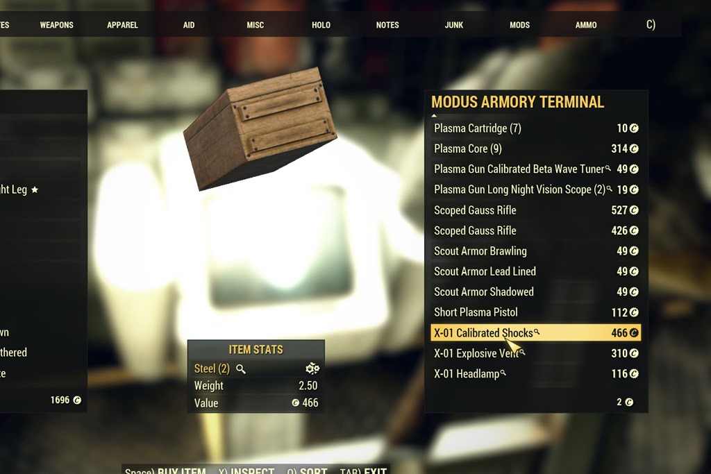 Fallout 76 Prototype X 01 Power Armor Crafting Guide Dulfy