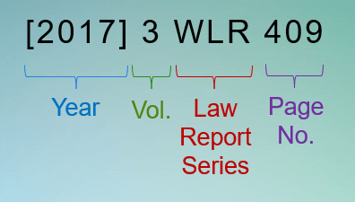2017 (Year), 3 (Volume), WLR (abbreviation for 'Weekly Law Reports'), 409 (Start page for the report)