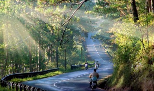Đường đèo thơ mộng trên thành phố Đà Lạt