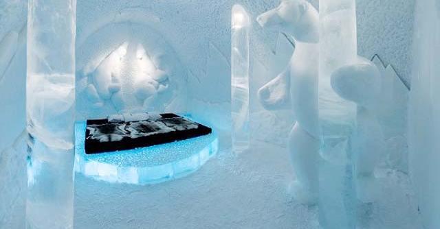 Khách sạn băng ở Thụy Điển là một trong 10 khách sạn độc đáo nhất thế giới
