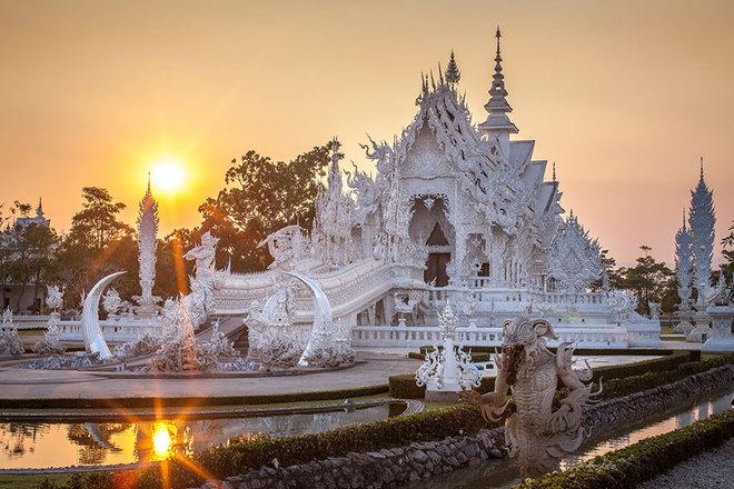 ngôi đên trắng ở Thái Lan - Wat rong khun