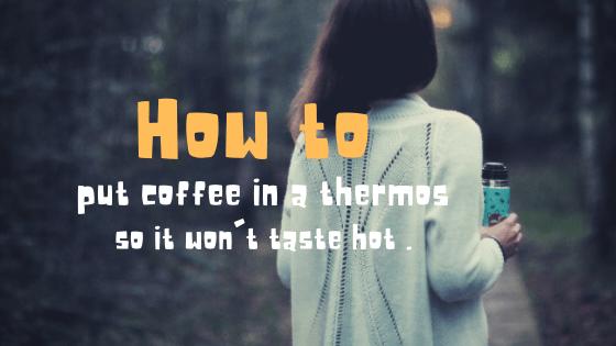 水筒に入れて不味くならないホットコーヒーのレシピ