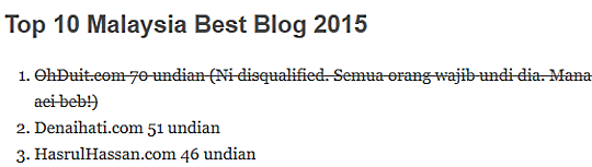 Top 10 Malaysia Best Blog 2015