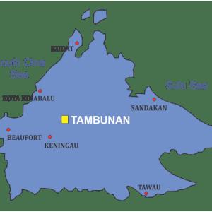 Sabah Map Tambunan