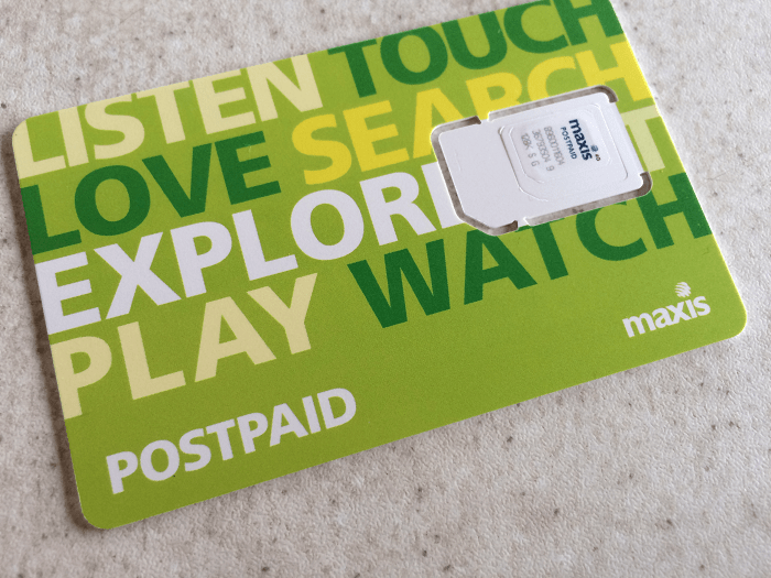 Maxis post paid