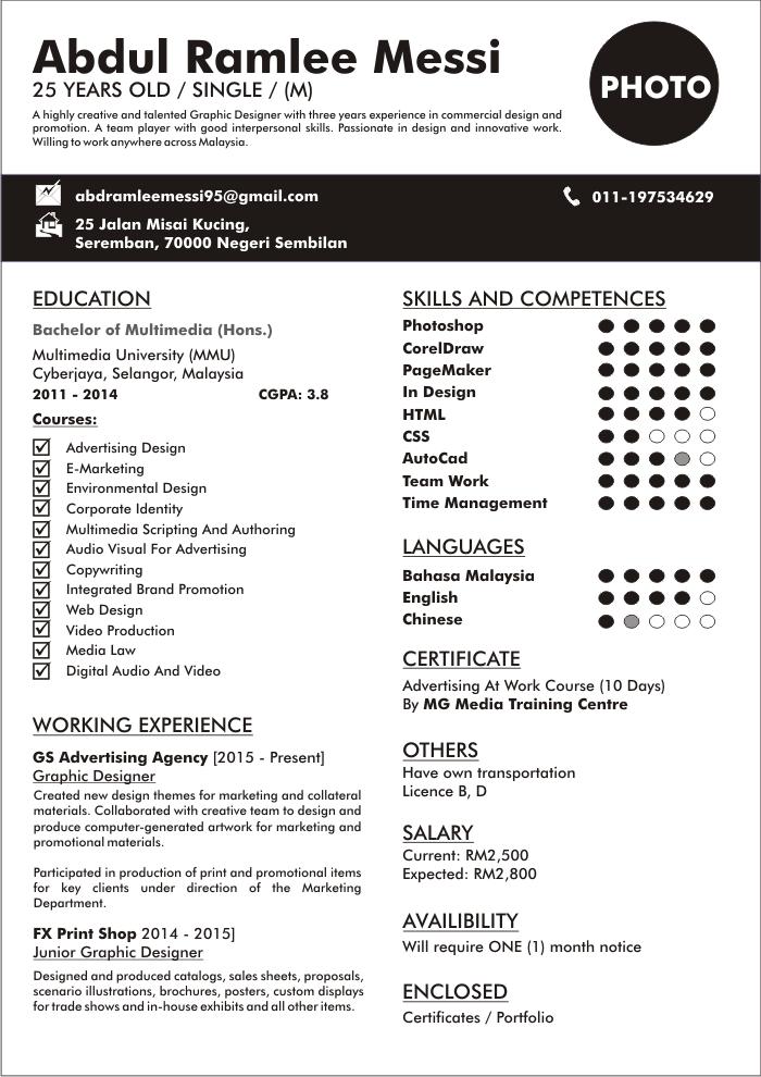 Contoh Curriculum Vitae Bahasa