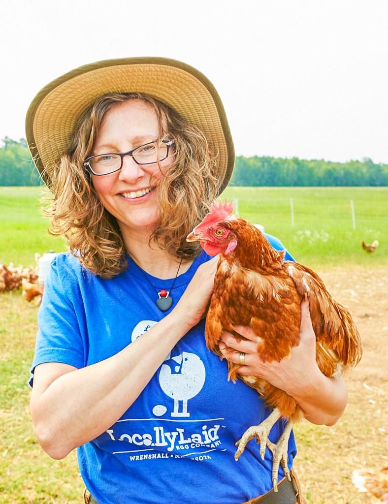 Lucie Amundsen with Chicken
