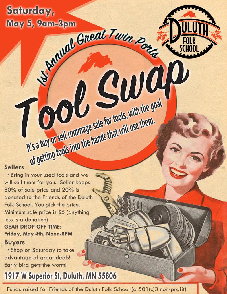 Duluth Folk School Tool Swap Poster
