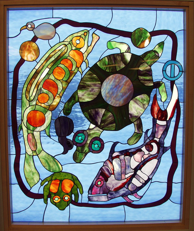 Stained Glass Demo at the Duluth Folk School