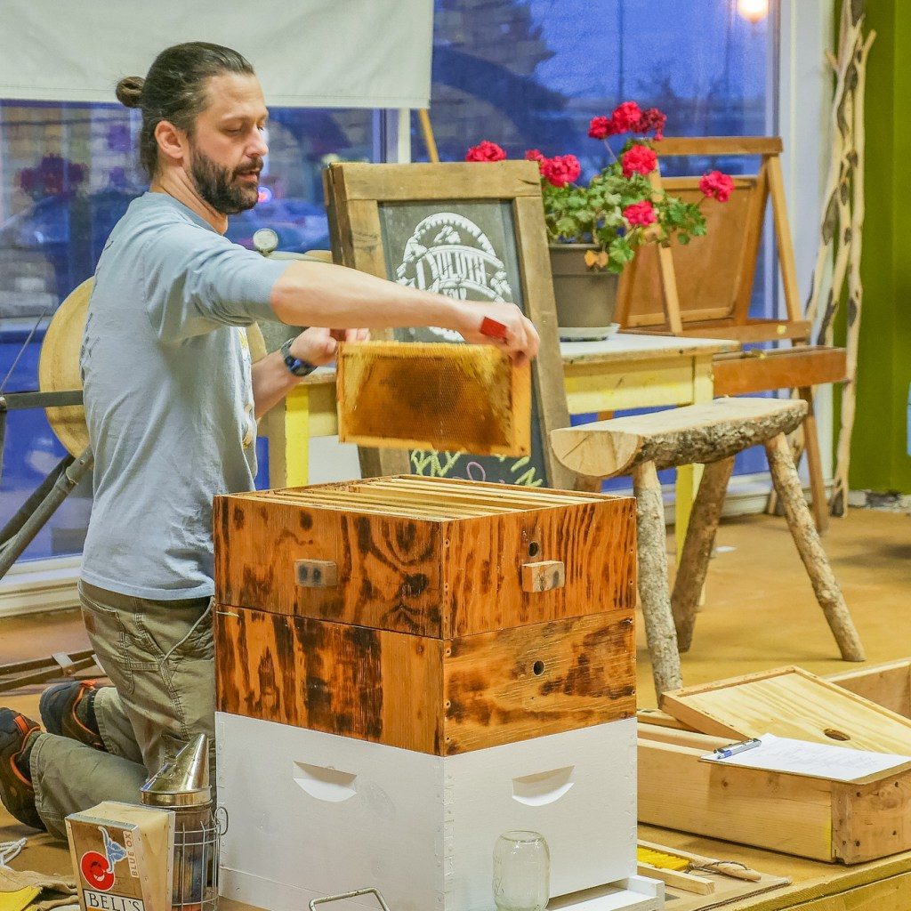 Beekeeping at the Duluth Folk School