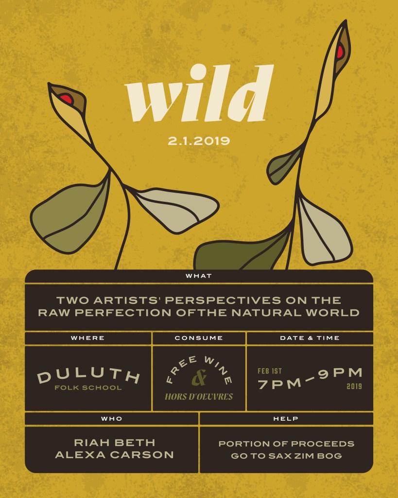 Wild Art Opening at the Duluth Folk School