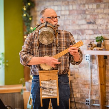 Lee Colorblind Johnson at the Duluth Folk School